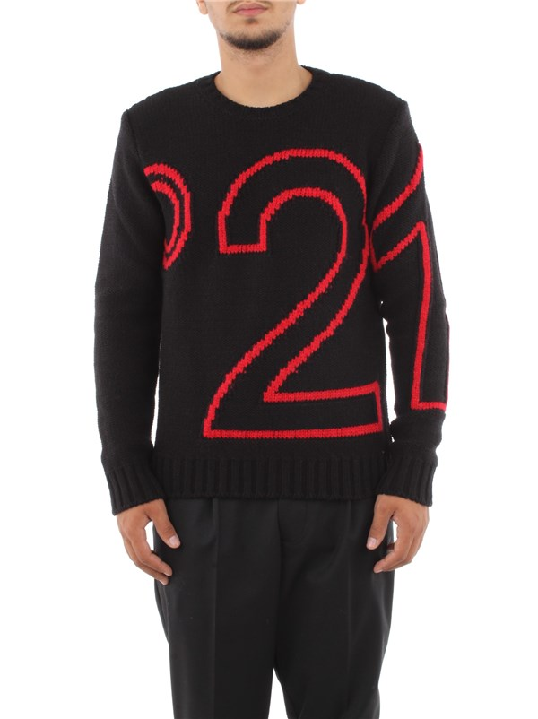 N°21 Clothing men Sweater Black A015 7266
