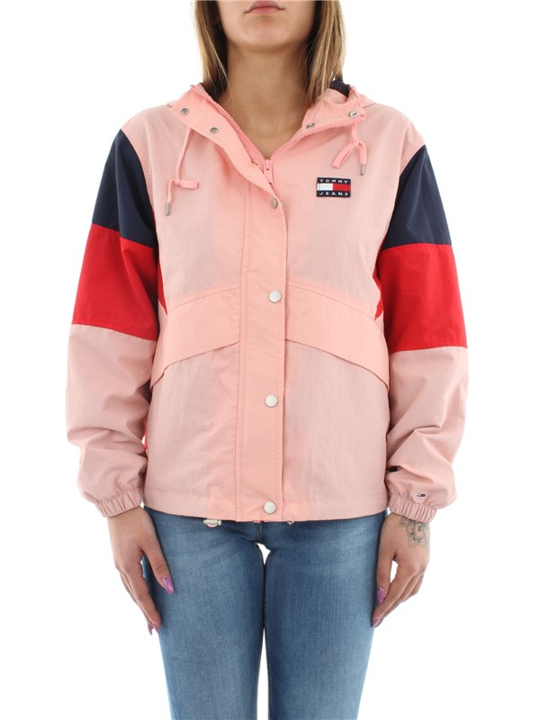 Tommy Hilfiger Jeans Clothing women Jacket Pink / black iris DW0DW07576