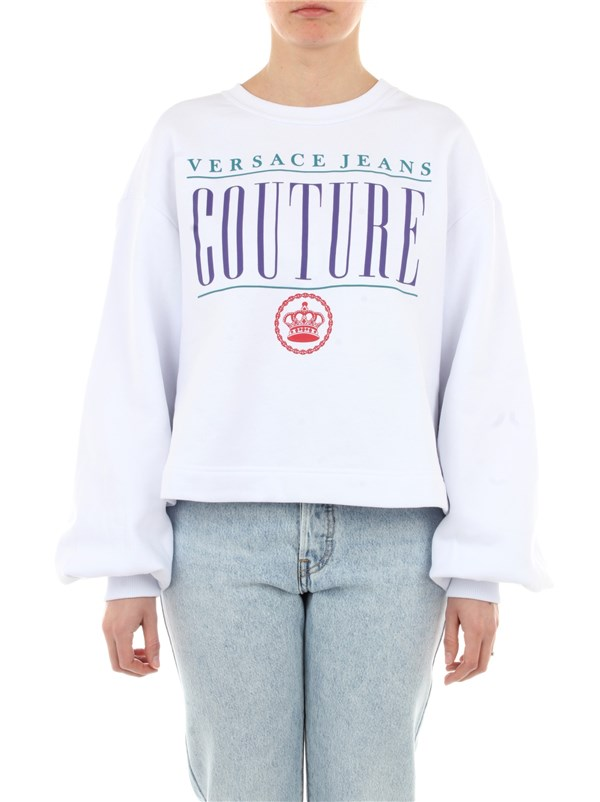 Versace Jeans Couture Clothing women Sweatshirt White B6 HZB7VO 30410