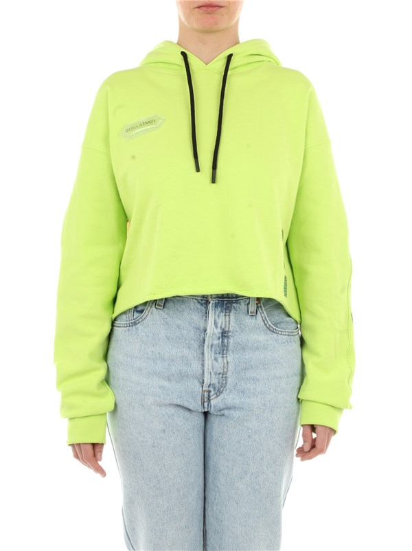 Disclaimer Clothing women Sweater Fluo yellow 21EDS50630
