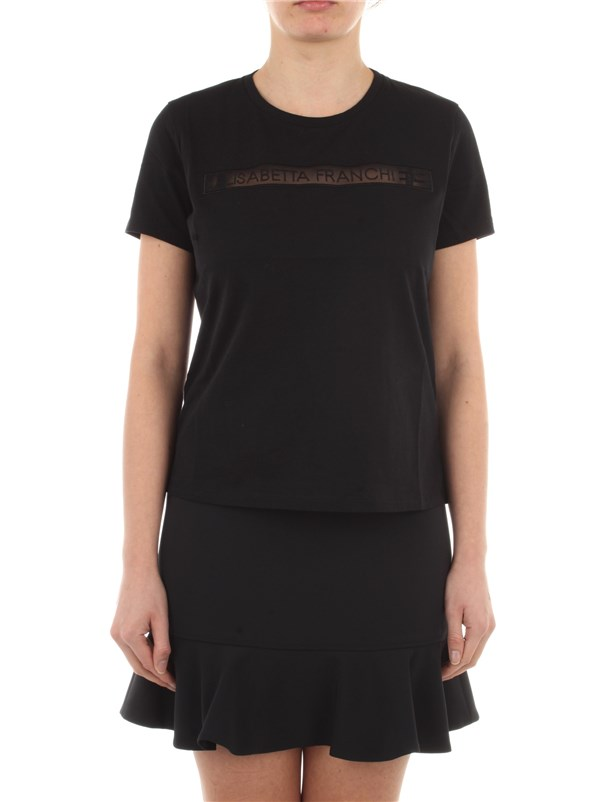 Elisabetta Franchi Clothing women T-shirt Black MA18411E2