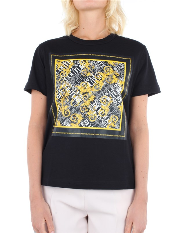 Versace Jeans Couture Clothing women T-shirt Black B2 HZA7EB 30311