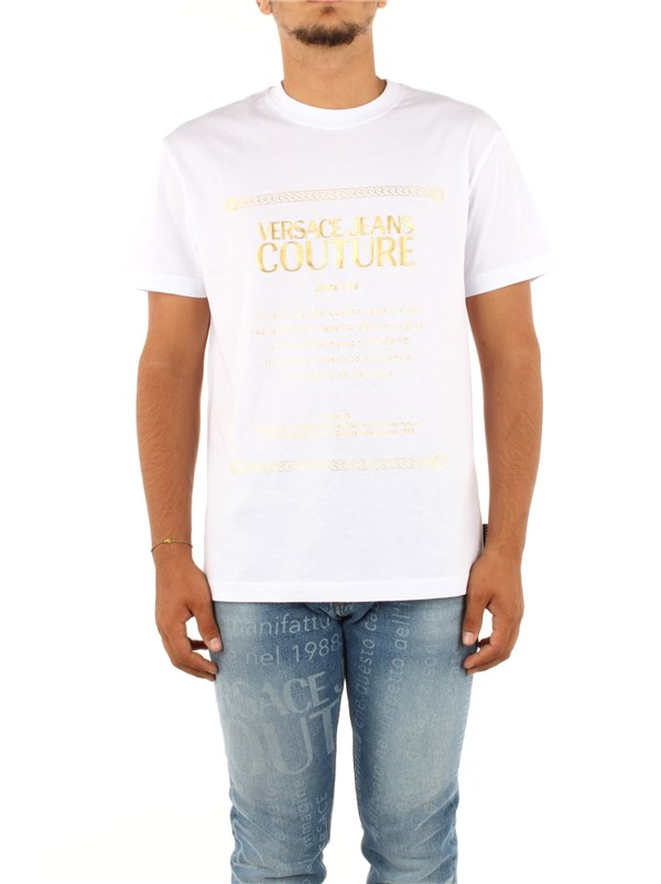 Versace Jeans Couture Clothing men T-shirt White B3 GZA7TF 30319