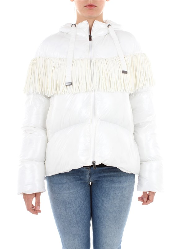 Pinko Clothing women Caban White 1G1540 Y6BJ