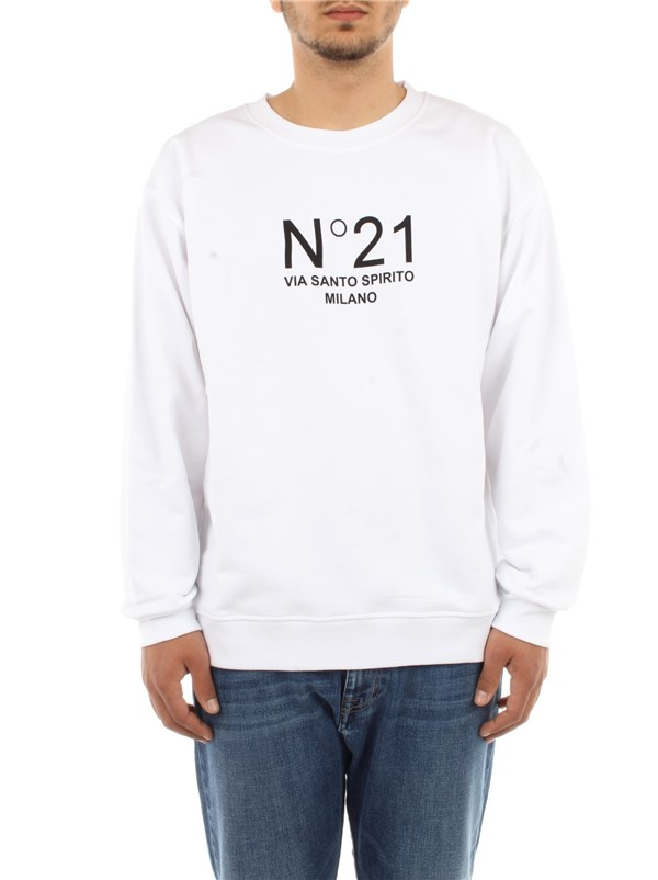 N°21 Clothing men Sweatshirt Optical white E041 6315
