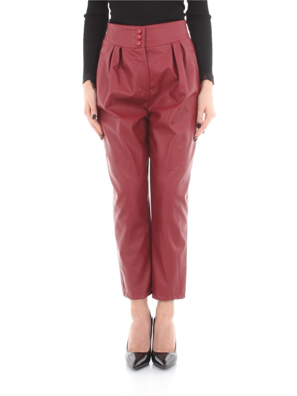 Vicolo Clothing women Trousers Red TM0028