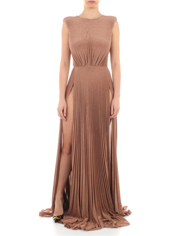 Elisabetta Franchi Clothing women Dress Pink / Gold AB05211E2
