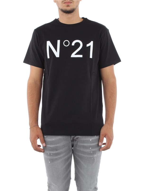 N°21 Clothing men T-shirt Black F021 6317