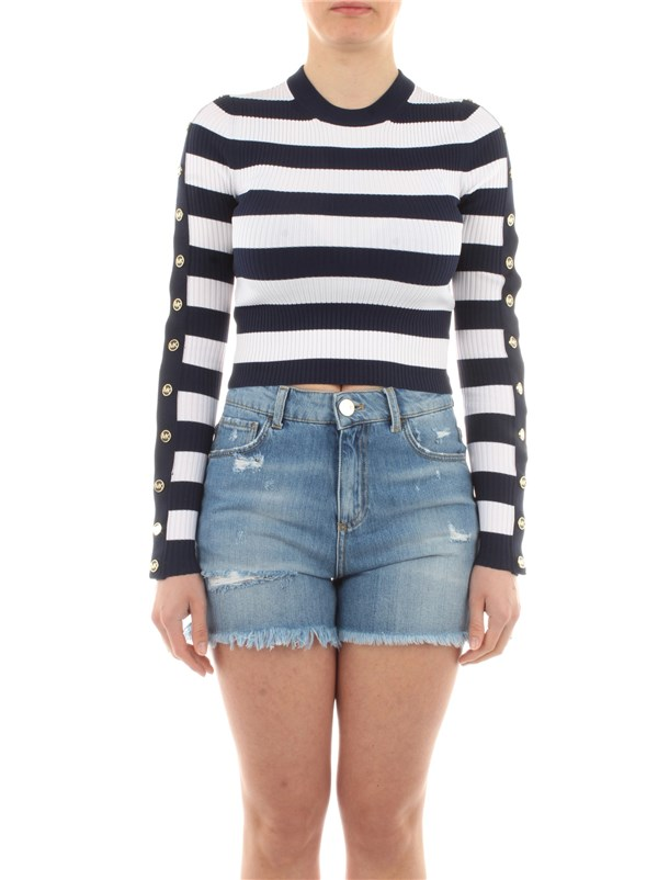 Michael Kors Clothing women Sweater Midnight blue / white MS160061MS