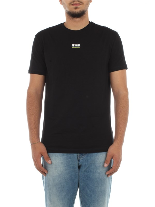 Msgm Clothing men T-shirt Black MM.M20-001