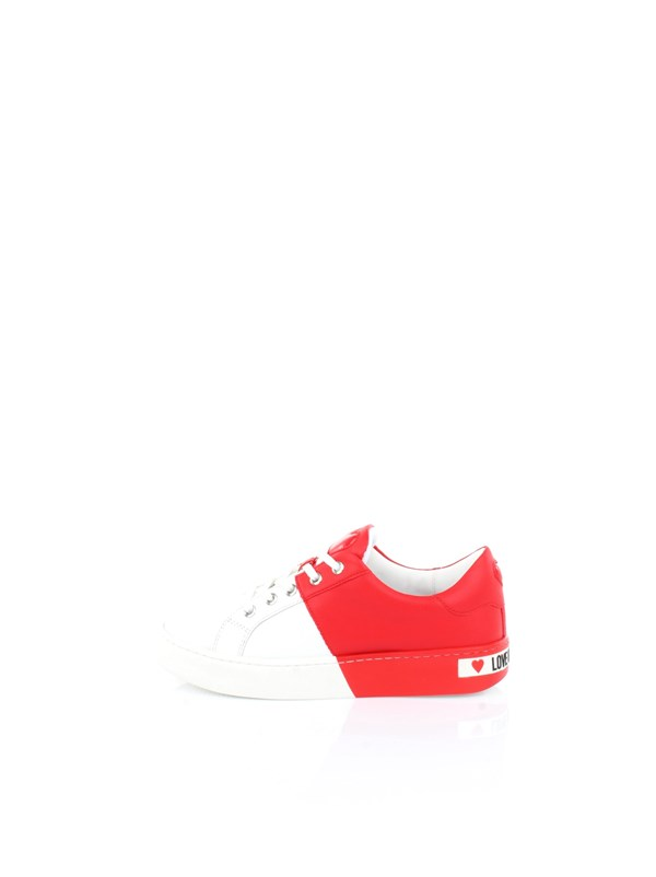 Love Moschino Accessori Shoes women Shoes White Red JA15013G1AIF3