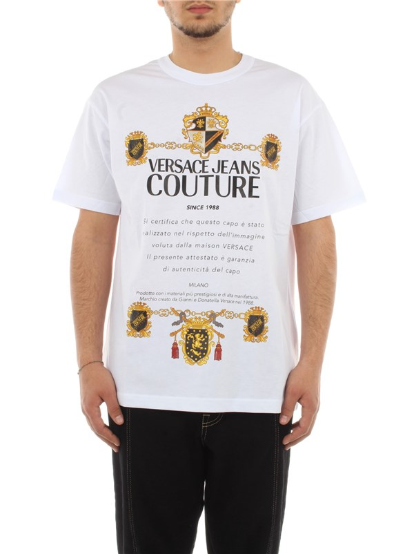 Versace Jeans Couture Clothing men Sweater White B3 GZB7TL 30319
