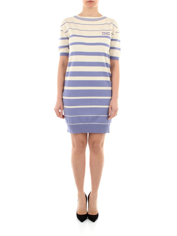 Elisabetta Franchi Clothing women Dress Lavender / butter AM92T11E2