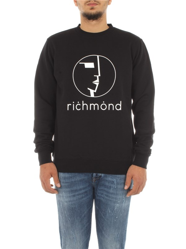 John Richmond Clothing men Sweatshirt Black RMA20129FEHB