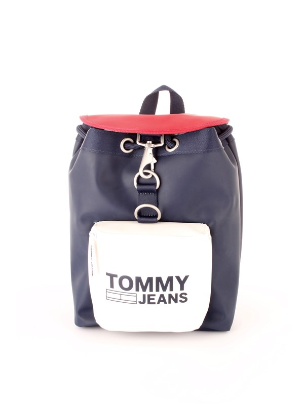 Tommy Hilfiger Jeans Accessories Unisex Backpack Blue / white / red AU0AU00408