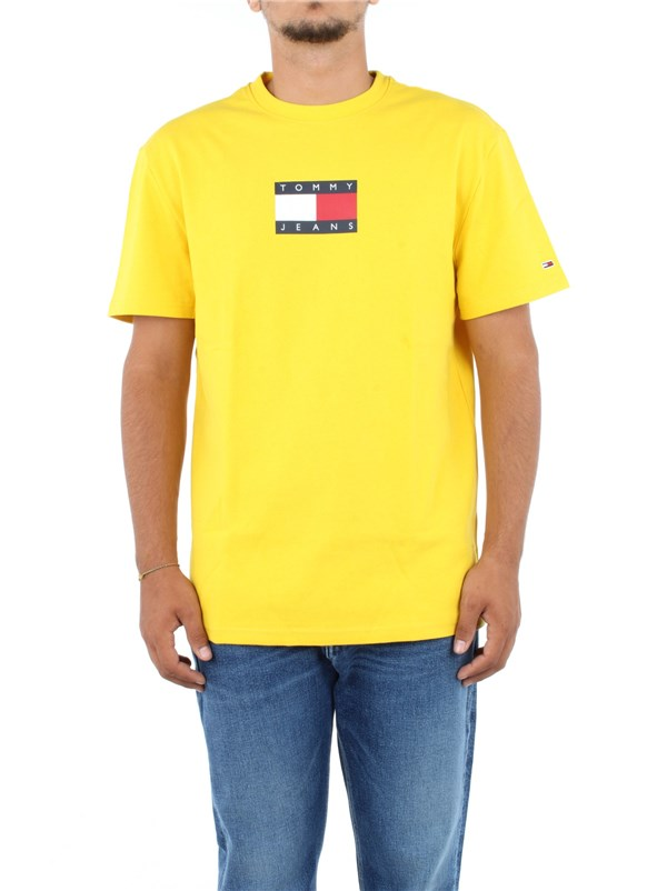 Tommy Hilfiger Jeans Clothing men T-shirt Yellow DM0DM08351