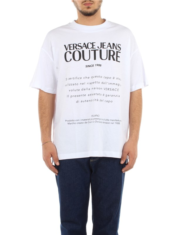 Versace Jeans Couture Clothing men T-shirt Optical white B3 GWA7TM 30319