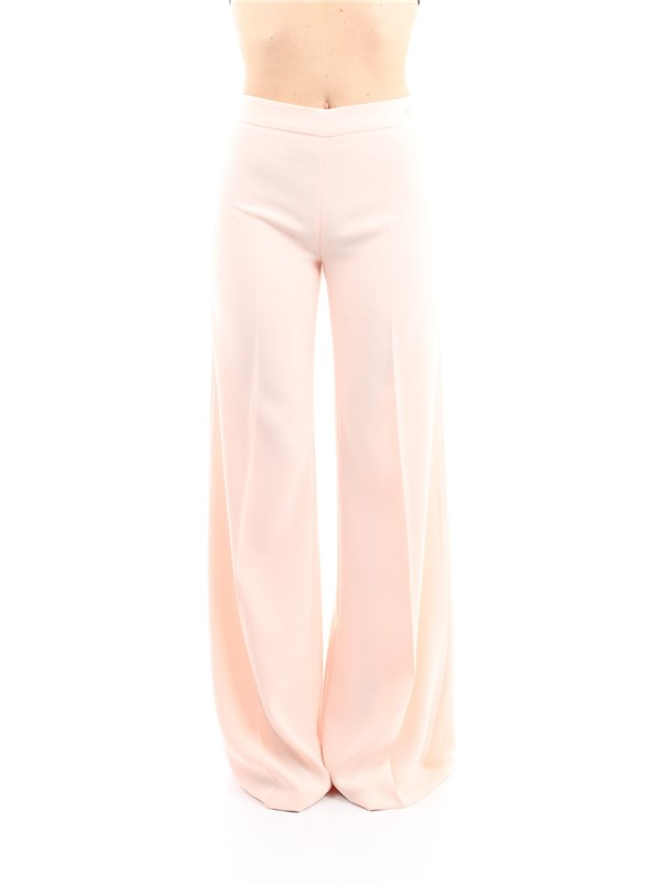 Elisabetta Franchi Clothing women Trousers Face powder PA25291E2