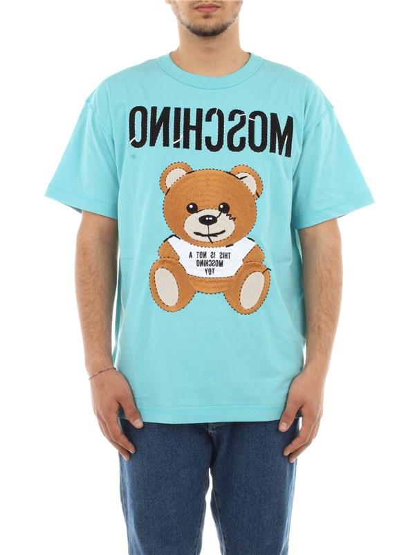 Moschino Couture Clothing men T-shirt Light blue A 0775 0240