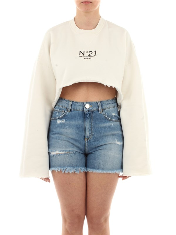 N°21 Clothing women Sweatshirt Ecru E051 4063