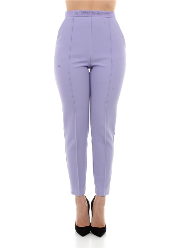 Elisabetta Franchi Clothing women Trousers Lavender PA33711E2