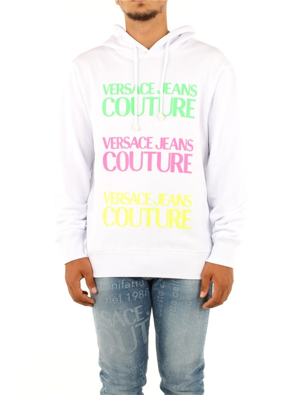 Versace Jeans Couture Clothing men Sweatshirt Optical white B7 GZA7TR 30318