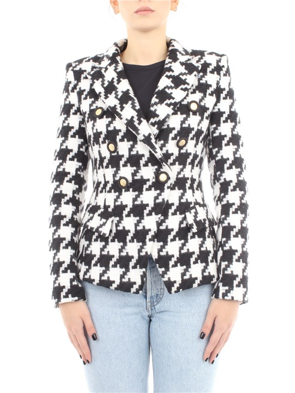Imperial Clothing women Jacket White black JV80YXE