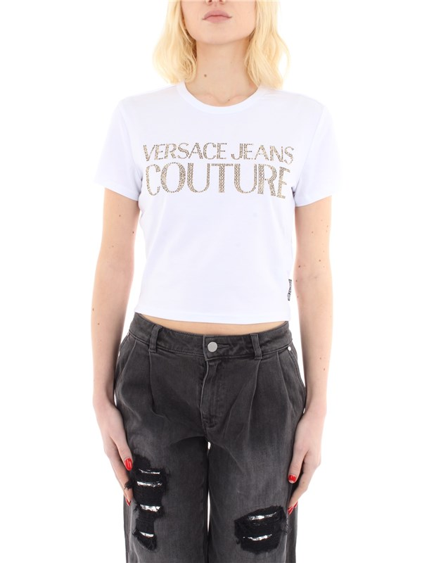 Versace Jeans Couture Clothing women T-shirt White B2 HVA7T3 36620
