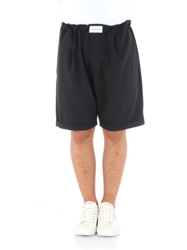 Canaku Clothing men Bermuda shorts Black BER-CAN